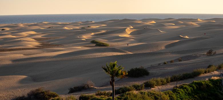 Grand Canaria duinen - Grand Canaria duinen bij Playa del Ingles in de avond zon.