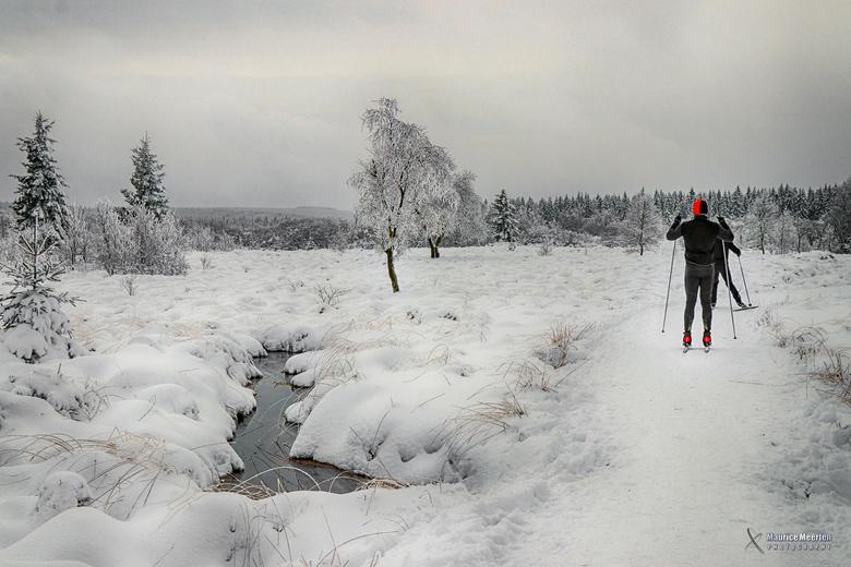 Lauflaufen in de sneeuw