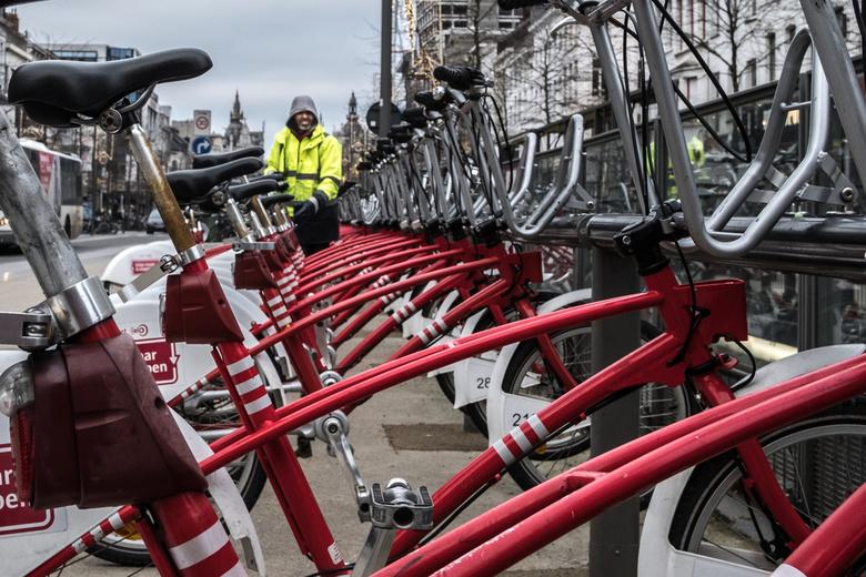 De fietsen beheerder