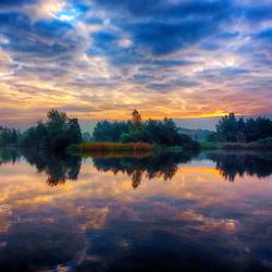 Kleurrijke morgen