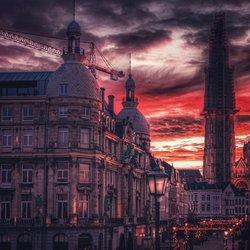 Antwerpen zonsopkomst