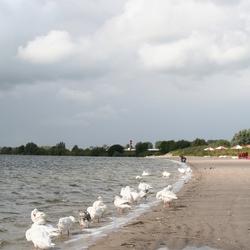 IJsselmeer met slecht weer