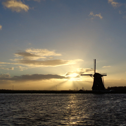 Sunset & Windmill