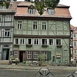 Oude vakwerkhuizen in Quedlinburg, foto 4.