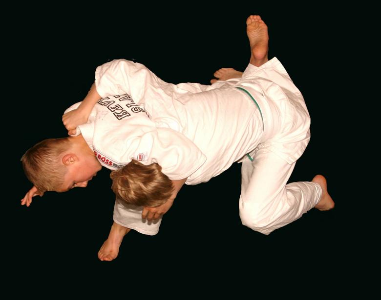 ippon - foto gemaakt tijdens judo wedstrijd van mijn zoon.<br /> dit was een ippon score