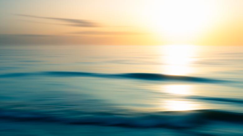 Camera shake op het strand - Eerste poging om met ICM te spelen zijn aardig gelukt.