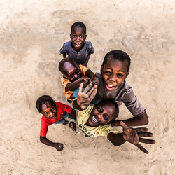 Blije kinderen In Senegal