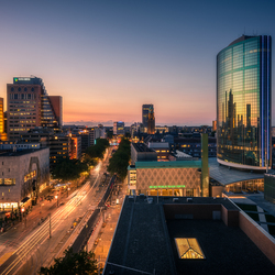 Rotterdam Beurs at Sunset