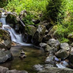 Stukje van de Todtnau waterval in Schwartzwald