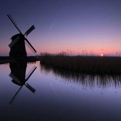 In de polder......