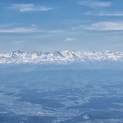 De alpen vanuit de lucht