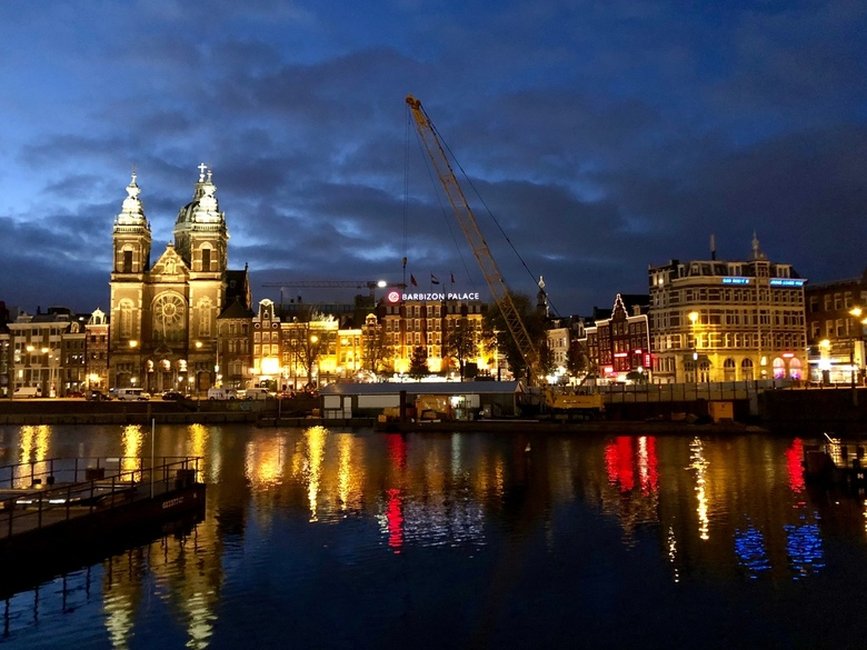 Amsterdam Construction at Dawn -