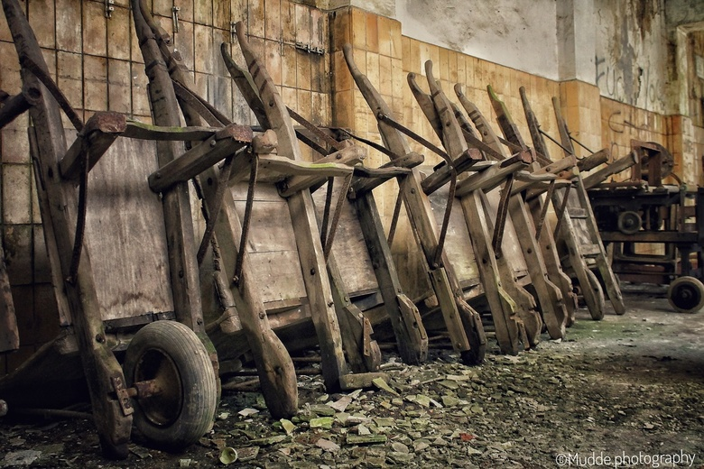 Retired wheelbarrows
