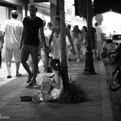Jonge straatartiest