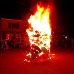 Pomp verbrand
