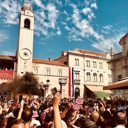 WK Finale Kroatië-Frankrijk, Dubrovnik July 2018