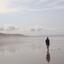 Ochtendwandeling  aan het strand