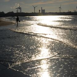 De zon op het water