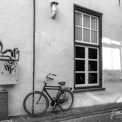 Even liggen na het fietsen