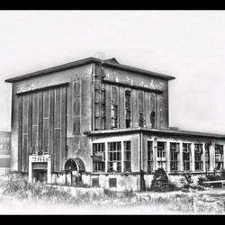 oude krachtcentrale aan de havenstraat in Huizen.