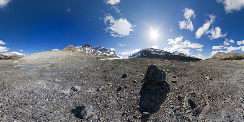 Athabasca Glacial Moraine - 360º panorama, hdr.