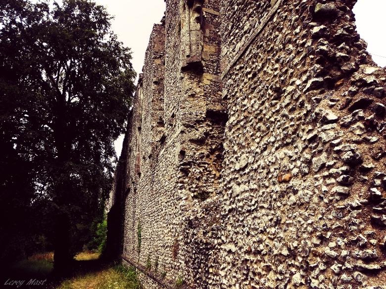 muur van een kasteel - muur van een kasteel,<br /> gefotografeerd in Engeland
