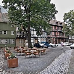 Oude vakwerkhuizen in Quedlinburg, foto 5.