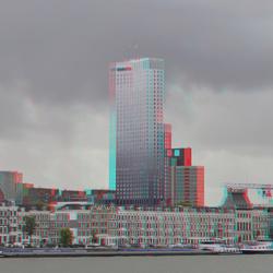 Maastoren Rotterdam 3D hyper-anaglyph D7000 cha-cha