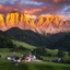 Val di Funes sunset