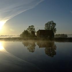 Misty reflection.