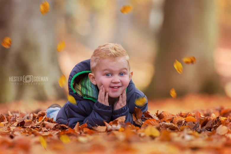 klein mannetje in het bos...