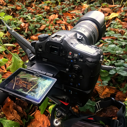 Bewerking: That's how I made the photo on a tripod
