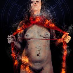 Fire Voodoo priestess