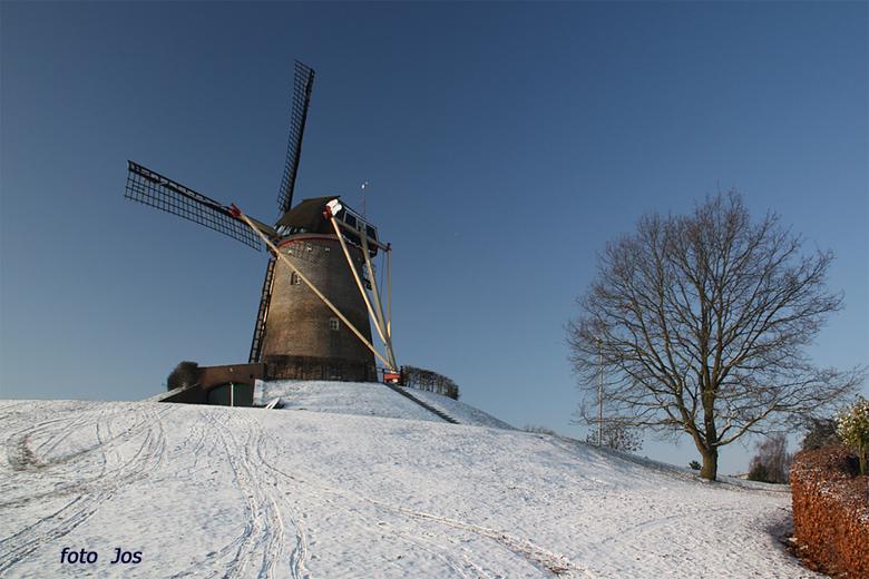Wijchense molen - Zondag 3 januari 2010. Het winterweer is weer terug en hier ligt weer 'n mooi laagje sneeuw. Ieder bedankt voor de reactie op m