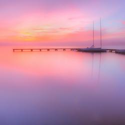 Sunrise at lake Nieuwkoop