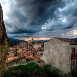 ondergaande zon bij Motta Camastra
