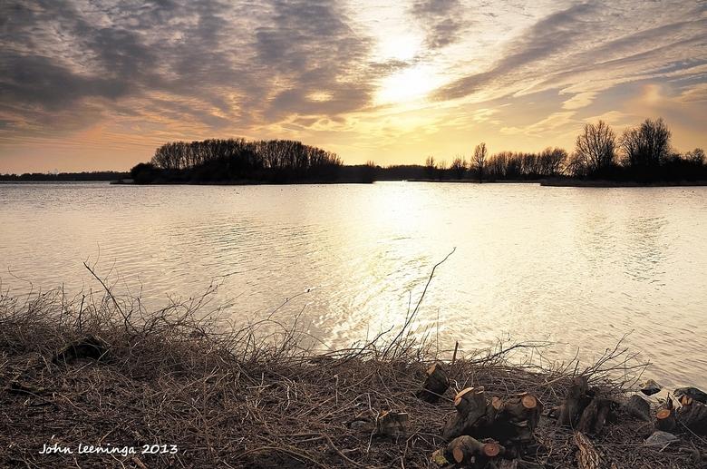 Zonsondergang Twiske - Zonsondergang in het Twiske <br /> <br /> Iedereen bedankt voor de reacties op mijn vorige foto.