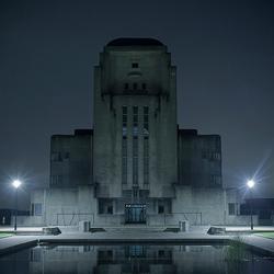 Radio Kootwijk bij nacht