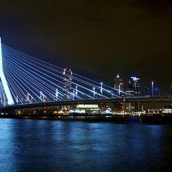 Erasmus brug at night