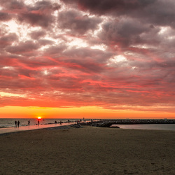 Sunset Oostende