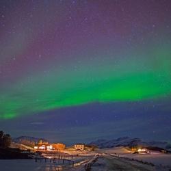 Noorderlicht bij Holmur