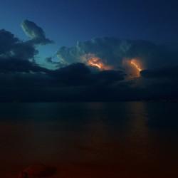 Onweer boven het Gardameer