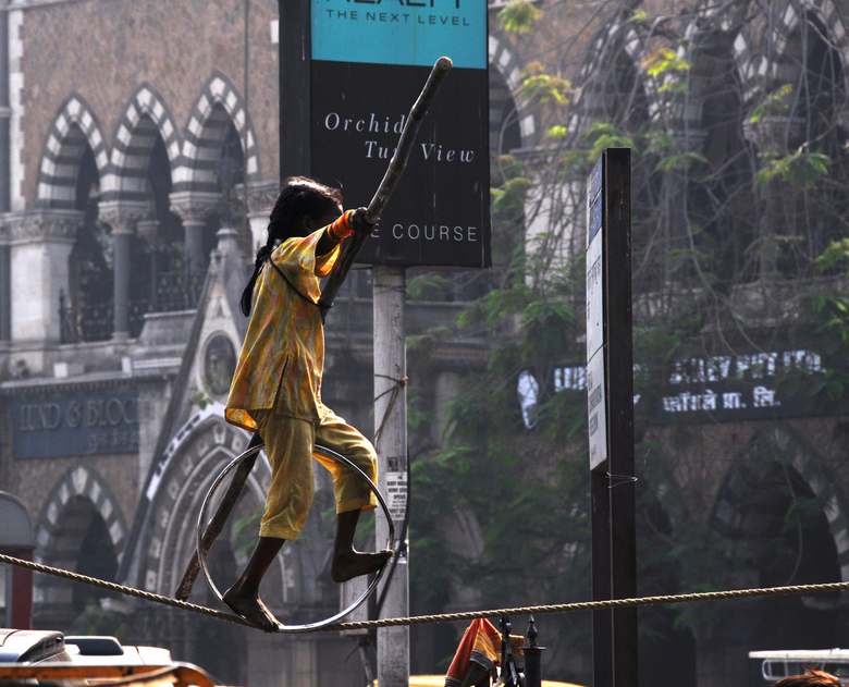 straattoneel - tafereeltje in de straten van Mumbai, India