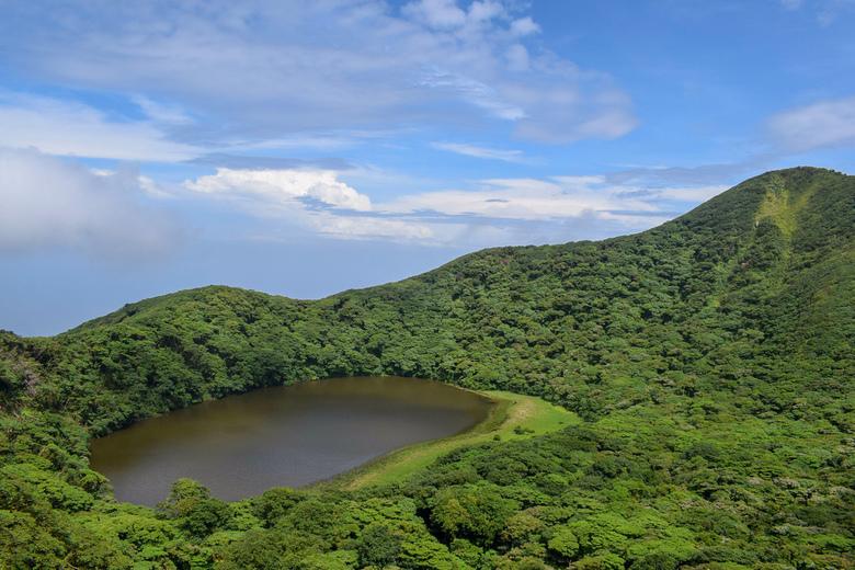 Top of Maderas Volcano Ometepe Island - Gelukkig trok de lucht nog helemaal open voor dit plaatje.