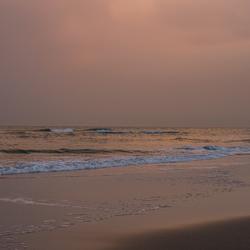 Gouden uurtje op het strand