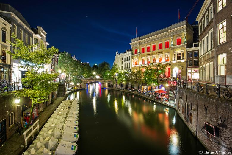 Zicht op de Oude Gracht in Utrecht