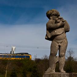 Standbeeld bij museum Hofwijck