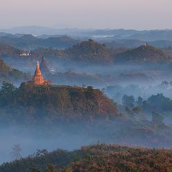 Zonsopgang in Noord Birma