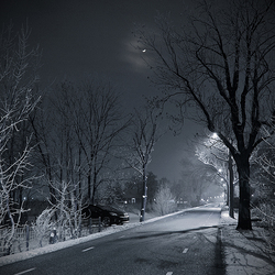 Evening in winter