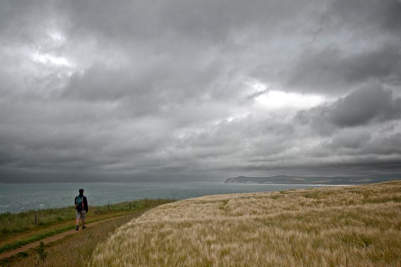 a walk on the cliffs - perfect wandelweer. <br /> In de verte Cap blanc Nez.<br /> Met dank aan m&#039;n man die telkens weer eindeloos geduld heeft